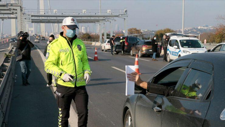 2-7 Aralık'ta sokağa çıkma kısıtlamalarına uymayan 37 bin 614 kişi hakkında işlem yapıldı