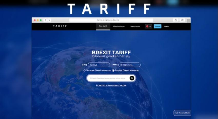 AB-İngiltere-Türkiye gümrük tarife detaylarını bulmak hiç bu kadar kolay olmamıştı!