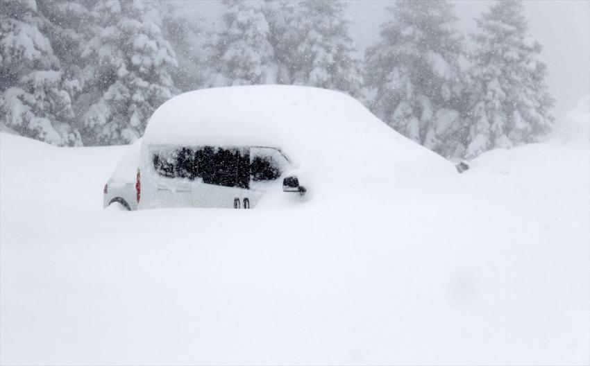 Uludağ'da kar kalınlığı…