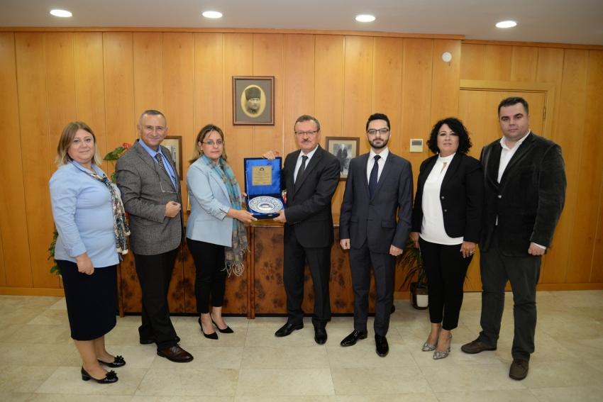 URTEB'ten Rektör Kılavuz'a 'rekabet' ziyareti