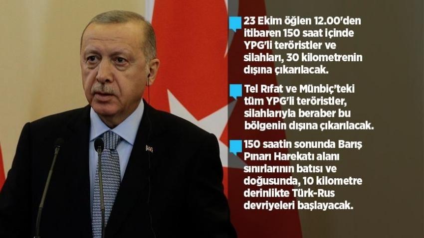 YPG'li teröristler silahlarıyla beraber bölgenin dışına çıkarılacak