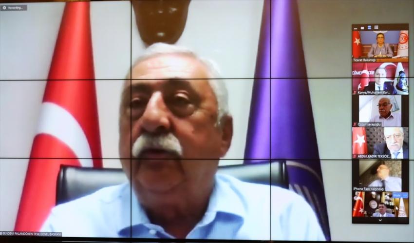 Bakan Pekcan, TESK yönetim kurulu üyeleriyle görüşmesinde konuştu