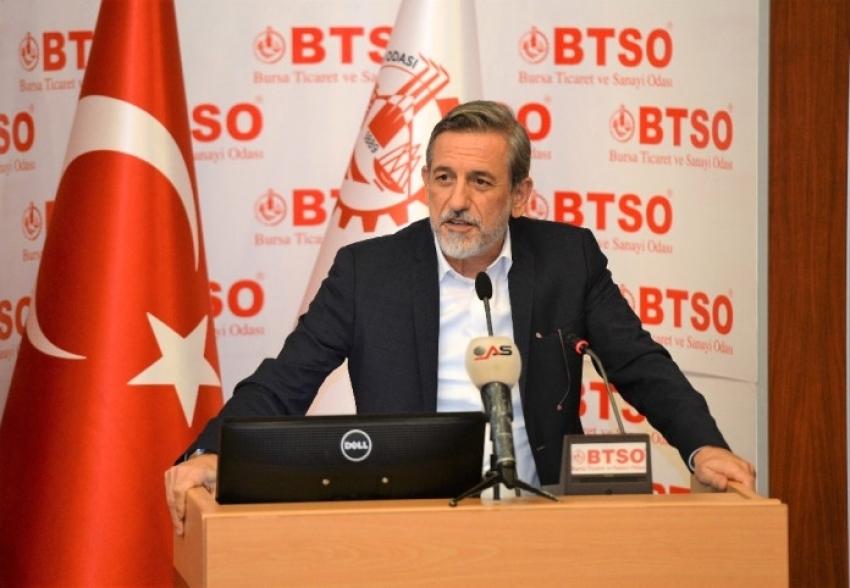 """BTSO Yönetim Kurulu Başkanı İbrahim Burkay: """"Tek Haneli Enflasyon ve Düşük Faiz Koşullarını Oluşturmamız Gerekiyor"""""""