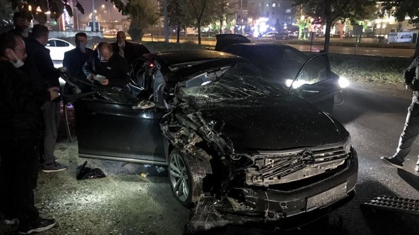 Bursa'da belediye başkanı kaza geçirdi