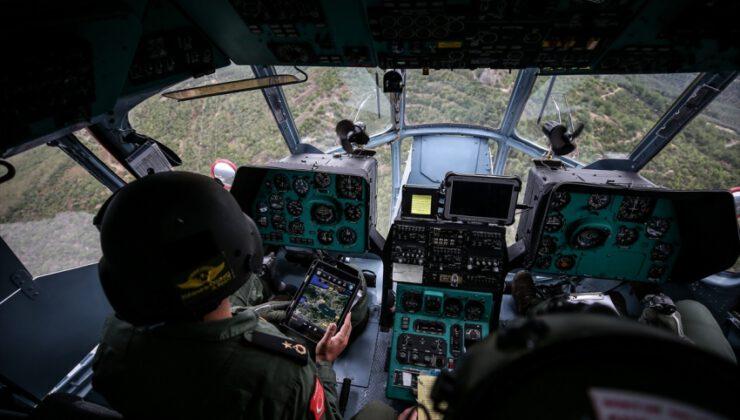 Bursa'da helikopterle trafik denetimi