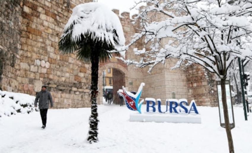 Bursa'da kar kapıda