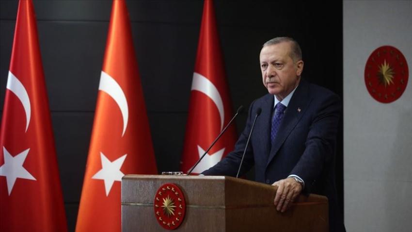 """Cumhurbaşkanı Erdoğan """"yeni normal"""" ile ilgili açıklamalar yapıyor."""