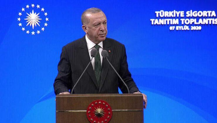 Cumhurbaşkanı Recep Tayyip Erdoğan Türkiye Sigorta tanıtım töreninde açıklama yaptı
