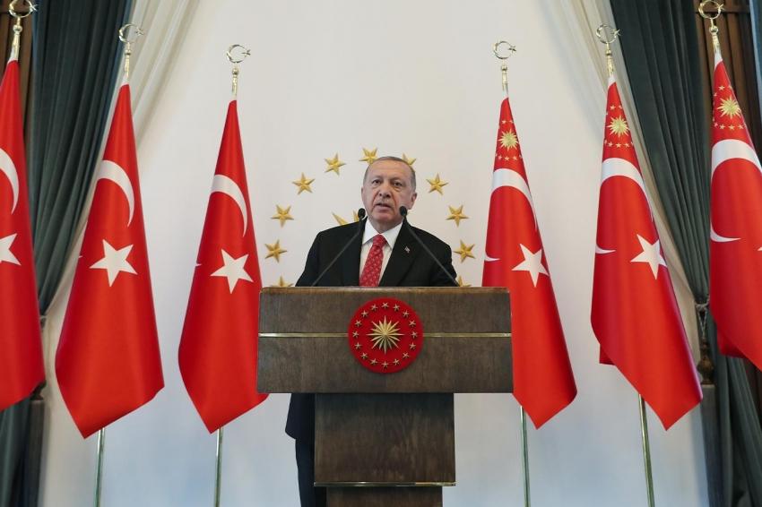Erdoğan milli dayanışma kampanyası başlattı