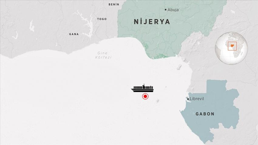 """""""Gine Körfezi'nde korsan saldırısına uğrayan gemi Gabon'un Gentil Limanı'na demirledi"""""""