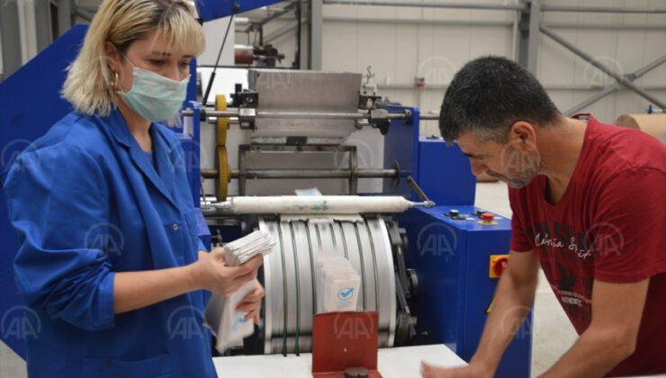 KOSGEB'le ürettiği bio kese kağıdını Avrupa'ya ihraç ediyor