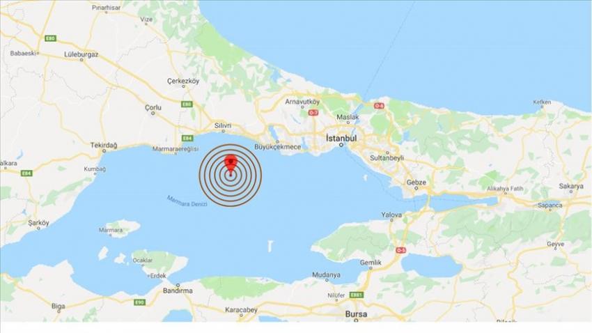Silivri açıklarında 3,9 şiddetinde deprem