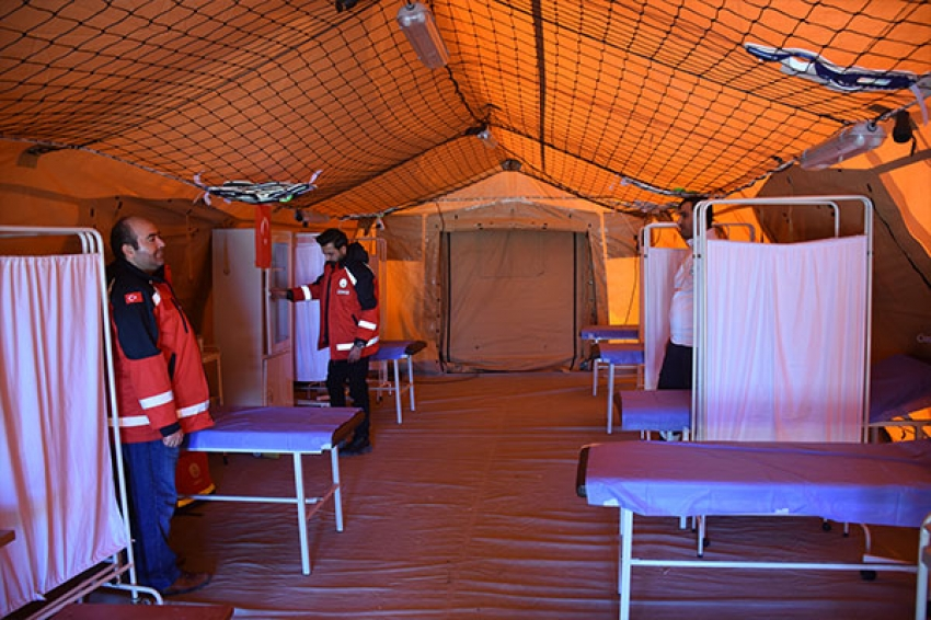Sınır kapılarına sahra hastanesi…