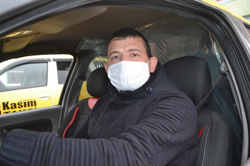 Taksi şoföründen brandalı yöntem!