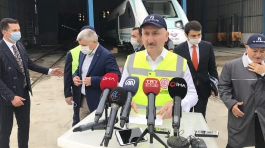 """""""Milli elektrikli tren 30 Ağustos'ta yay ve yol testlerine başlayacak"""""""