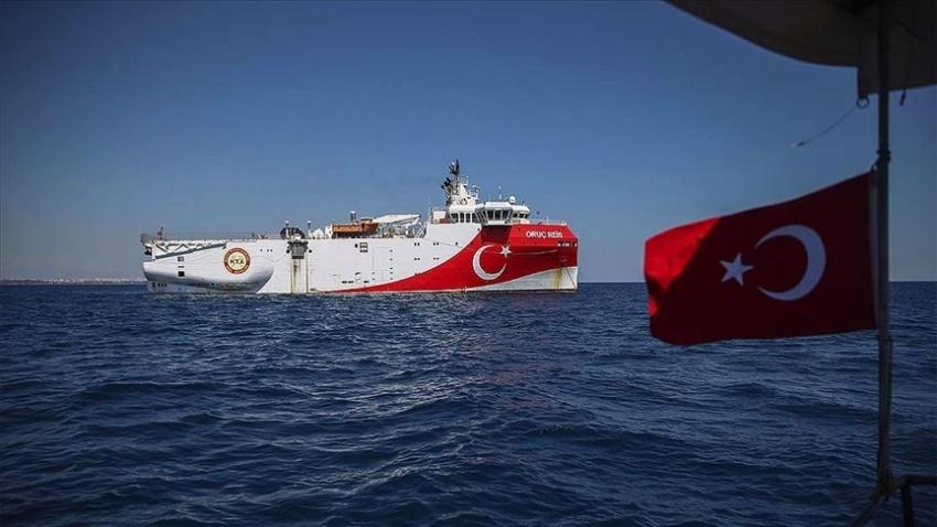 Oruç Reis'in Doğu Akdeniz'de çalışma süresi uzatıldı