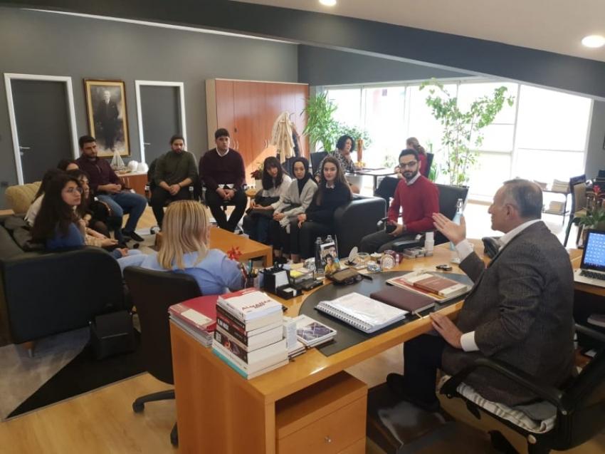 Rekabet Merkezi Öğrencilerinden Özenalp'e ziyaret