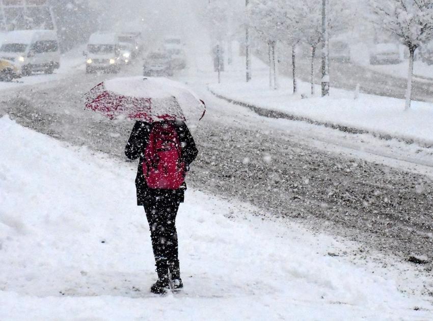 Sağanak, kar ve fırtına uyarısı