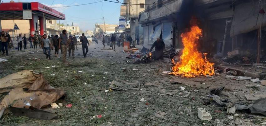 Tel Abyad'da pazar yerine bombalı saldırıda 10 sivil öldü